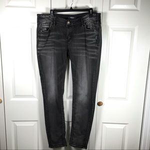 Silver Suki Mid Skinny Black Jeans